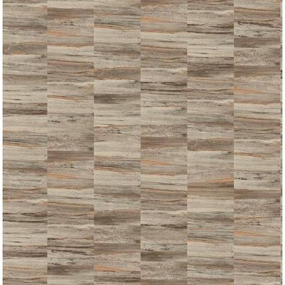 Hugo Brown Faux Wood Brown Wallpaper Sample