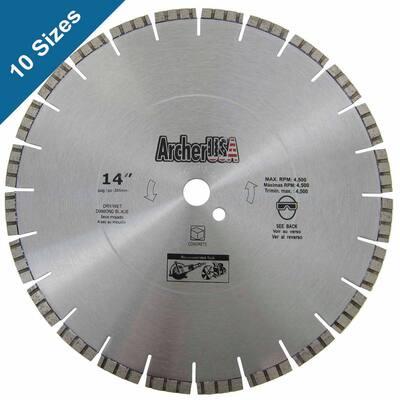 14 in. Diamond Blade for Concrete Cutting