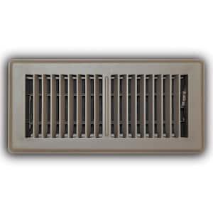 4 in. x 10 in. 2-Way Steel Floor Register in Brown