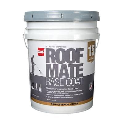 Roof Mate Base Coat 5 Gal. Light Gray Acrylic Reflective Elastomeric Roof Coating (15-Year Limited Warranty)