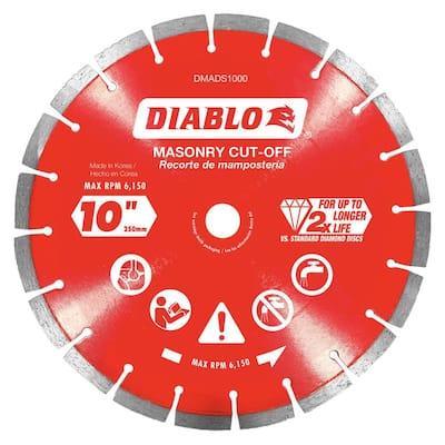 10 in. Diamond Segmented Cut-Off Discs for Masonry