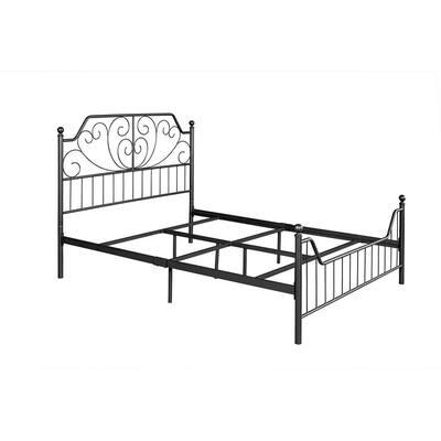 Queen Size Black Standard Bed Metal Bed Frame Platform Bed