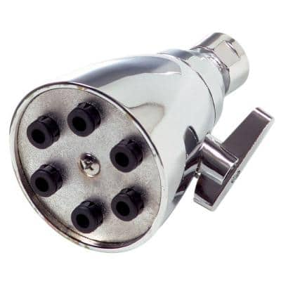 6-Spray 4 in. Single Ceiling Mount Fixed Shower Head in Chrome