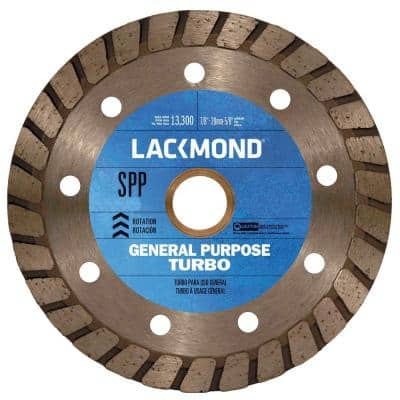 4 in. Continuous Turbo Rim Diamond Blade for Dry Cutting Stone