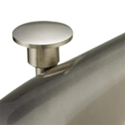 Impression Collection 4 in. Centerset 2-Handle WaterSense Bathroom Faucet in Brushed Nickel with Brass Pop-Up