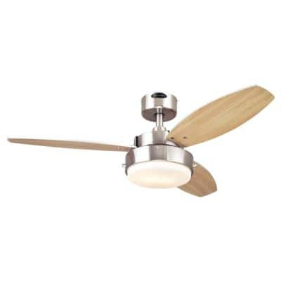 Alloy 42 in. LED Brushed Nickel Ceiling Fan with Light Kit