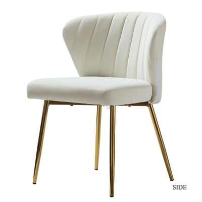 Luna Ivory Gold Legs Side Chair