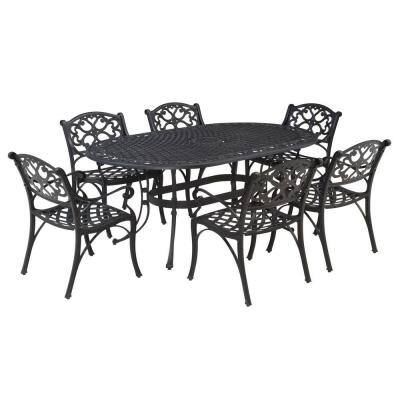 Biscayne Black 7-Piece Patio Dining Set