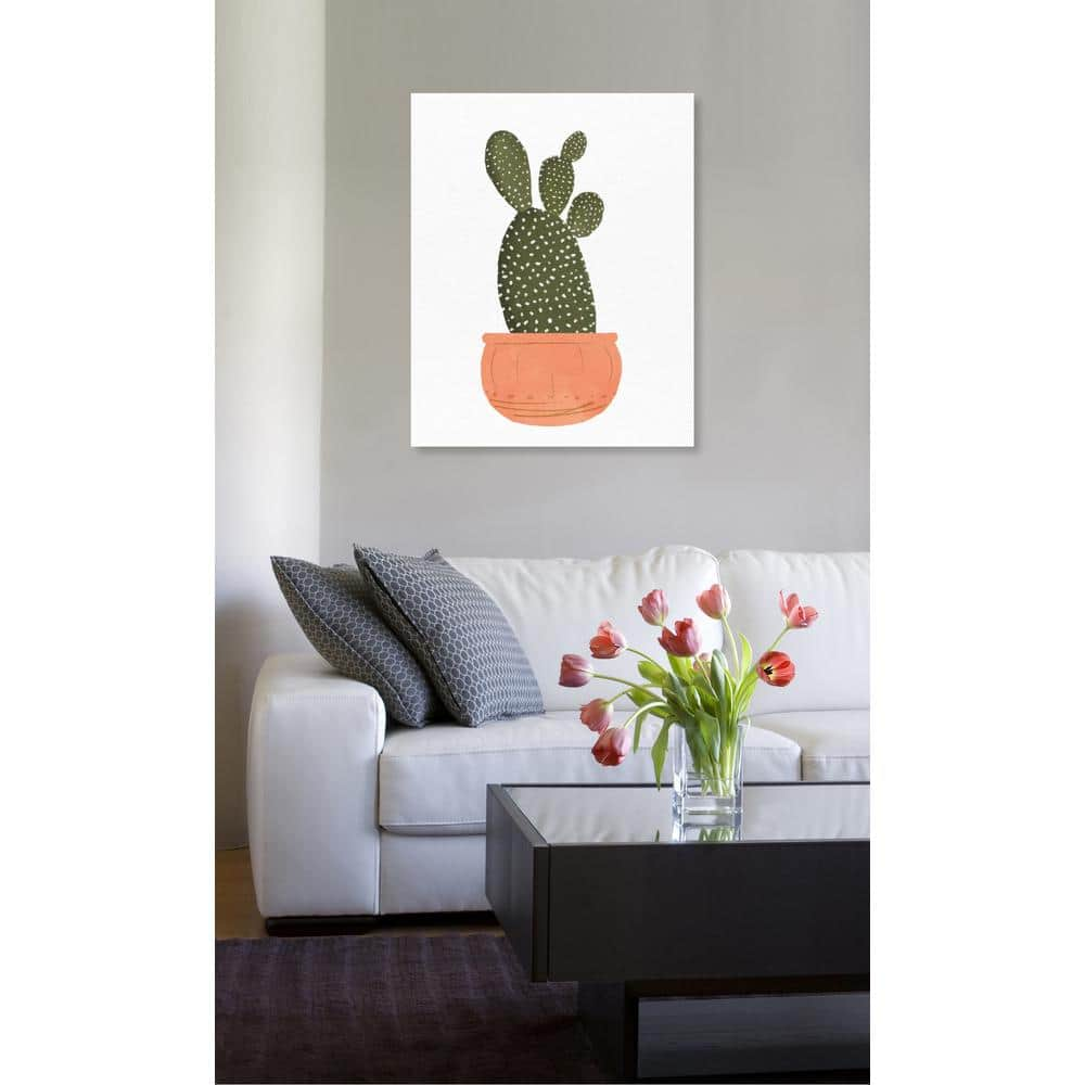 The Oliver Gal Artist Co 36 In H X 45 In W Cactus Coral Ii By The Oliver Gal Artist Co Printed Framed Canvas Wall Art 21819 36x45 Canv Xhd The Home Depot