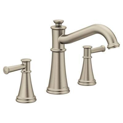 Belfield 2-Handle Deck-Mount Roman Tub Faucet Trim Kit in Brushed Nickel (Valve Not Included)