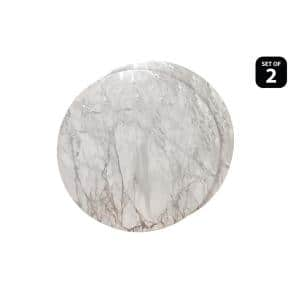 Marble Cork 15 in. x 15'' In. Grays and Silver Cork Placemats Set of 2