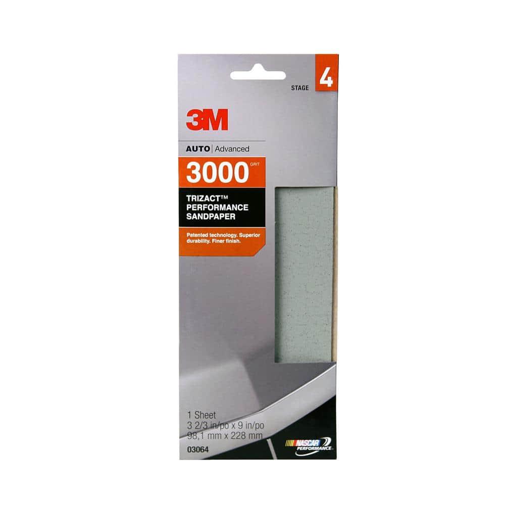 3M Trizact Performance 3-2/3 in. x 9 in. 3000-Grit Sandpaper