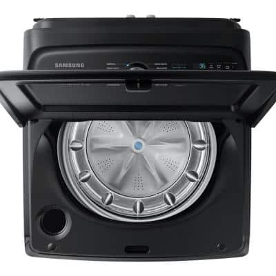 5.0 cu. ft. Hi-Efficiency Fingerprint Resistant Black Stainless Top Load Washing Machine with Super Speed, ENERGY STAR