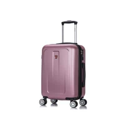 Crypto 20 in. Rose Gold Lightweight Hardside Spinner Carry-on