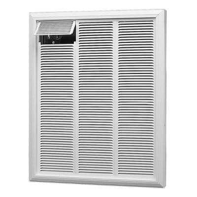 """Unvented"" WhiteRFI Commercial 13648 BTU 240-Volt 4000-Watt Fan-Forced Electric Wall Heater"