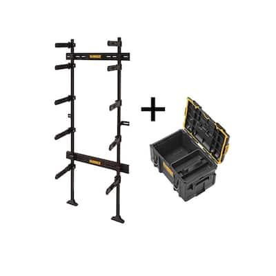 TOUGHSYSTEM 25-1/2 in. Workshop Racking Storage System, with Bonus TOUGHSYSTEM 2.0 22 in. Medium Tool Box