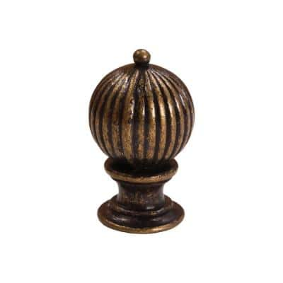1-3/8 in. Antique Brass Lamp Finial