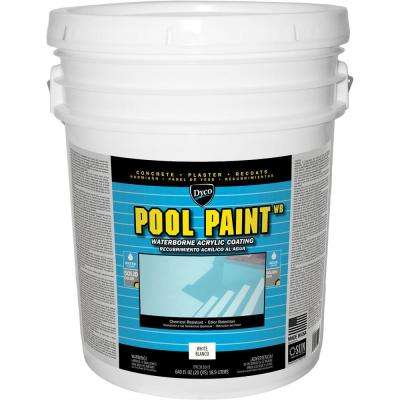 Pool Paint 5 Gal. 3150 White Semi-Gloss Acrylic Exterior Paint