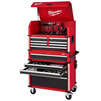 High Capacity 36 in. 12-Drawer Tool Chest and Cabinet Combo