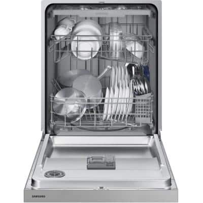 24 in. Front Control Dishwasher in Stainless Steel with 3rd Rack, 51 dBA