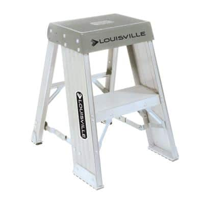 2 ft. Aluminum Step Stand with 300 lb. Load Capacity Type IA Duty Rating