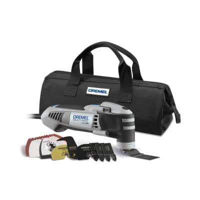 Multi-Max 5 Amp Variable Speed Corded Oscillating Multi-Tool Kit with 28 Accessories and Storage Bag
