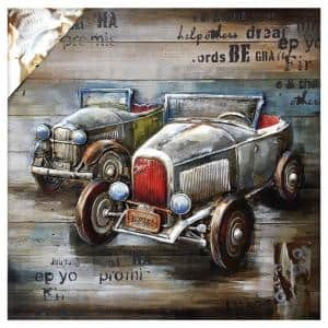 ''Vintage Car Show'' by Unknown Artist Wood Wall Art