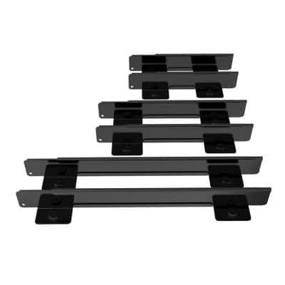 Adjustable 8 in. to 24 in. Magnetic Drawer Divider 6-piece set