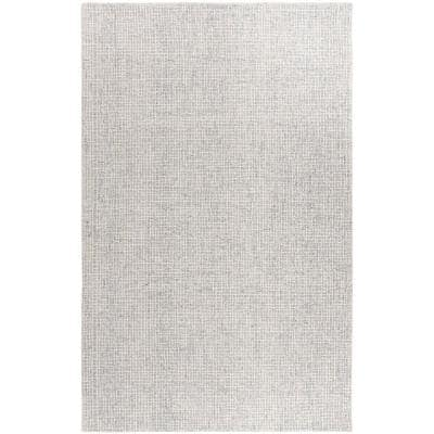 Abstract Silver/Blue 6 ft. x 9 ft. Solid Area Rug