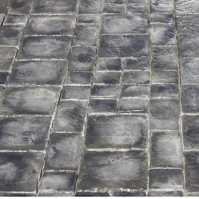 Cass Stone 100 sq. ft. Gray Concrete Paver Kit