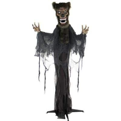 70 in. Touch Activated Animatronic Werewolf
