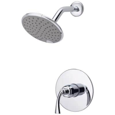 Adelais Single-Handle 1-Spray Shower Faucet in Chrome (Valve Included)