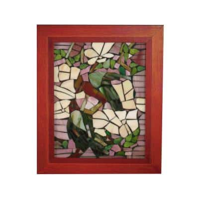 Springdale 10 in. H Parrots Mosaic Art Glass Wall Panel