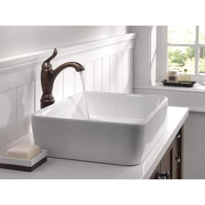 Linden Single Hole Single-Handle Vessel Bathroom Faucet in Venetian Bronze