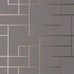 Anschutz, Mason Dark Grey Geometric Vinyl Peelable Wallpaper Roll (Covers 56.4 sq. ft.)