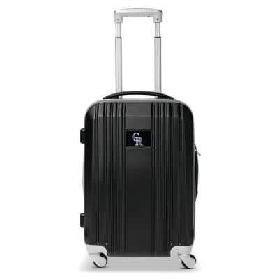MLB Colorado Rockies 21 in. Gray Hardcase 2-Tone Luggage Carry-On Spinner Suitcase