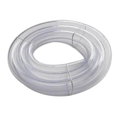 1 in. O.D. x 3/4 in. I.D. x 10 ft. Clear PVC Vinyl Tube