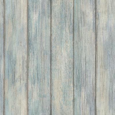 Nantucket Plank Blue Textured Wallpaper Sample