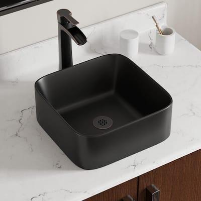 Vessel Sink in Matte Black