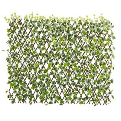 Indoor/Outdoor 39 in. English Ivy Expandable Fence UV Resistant & Waterproof