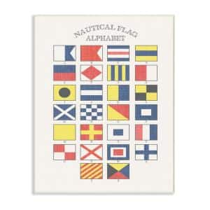 Stupell Industries 10 In X 15 In Nantucket Nautical Flags By Daphne Polselli Printed Wood Wall Art Cw 1271 Wd 10x15 The Home Depot
