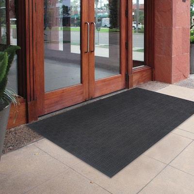 Black 48 in. x 72 in. Recycled Rubber Commercial Door Mat