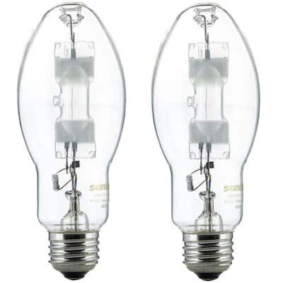 175-Watt ED17 Metal Halide Probe Start Medium E26 Base 14,000 Lumen Clear HID Light Bulb in Cool White 4000K (2-Pack)