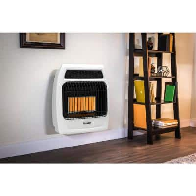 18,000 BTU Vent Free Infrared Natural Gas Thermostatic Wall Heater