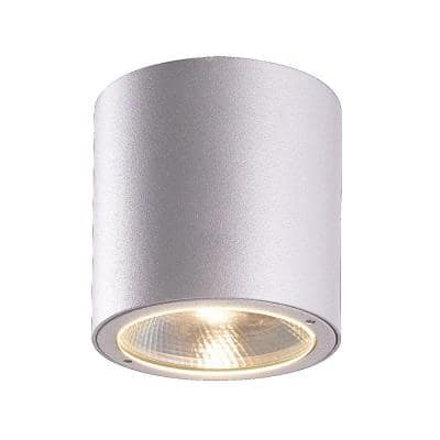 Sky Collection 1-Light Marine Grey Outdoor LED Flush Mount