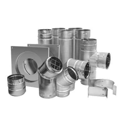 3 in. x 12 in. Pellet Vent Universal Install Kit with Corner Elbow
