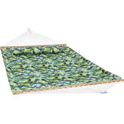 128 in. L Tropical Greenery Spreader Bar Hammock Bed