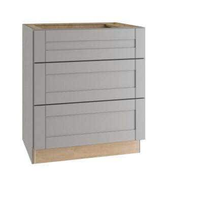Veiled Gray Shaker Assembled Plywood 24 in. x 34.5 in. x 24 in. Base Drawer Kitchen Cabinet with Soft Close