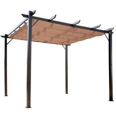 10 ft. x 10 ft. x 8 ft. Aluminum Backyard Gazebo Canopy with Water and UV Resistant Fabric Shelter and Durable Design