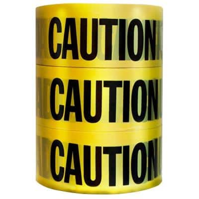 3 in. x 1000 ft. Caution Tape (3-Pack)